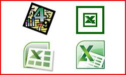 Różne wersje Excela na przestrzeni lat